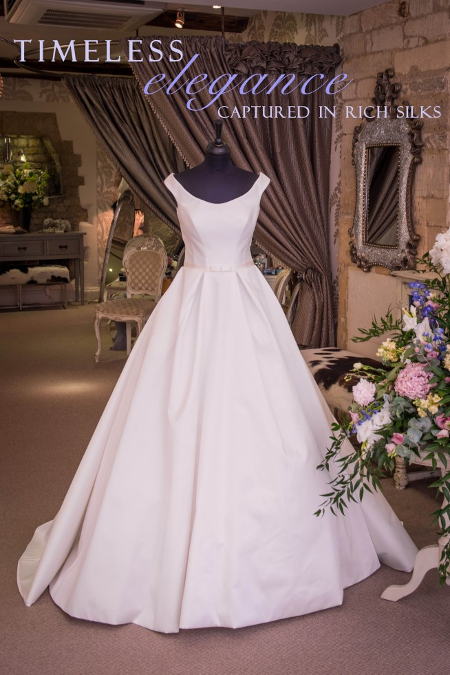 Suzanne Neville wedding dress traditional wedding dress classic wedding dress satin wedding dress