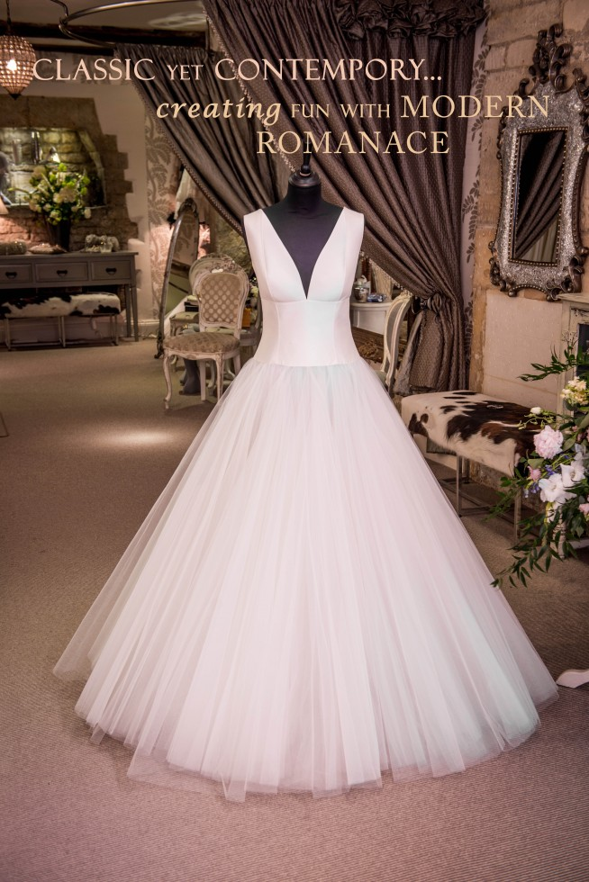 David Fielden wedding dress tulle wedding dress satin wedding dress modern wedding dress princess wedding dress fun wedding dress contemporary wedding dress big skirt wedding dress