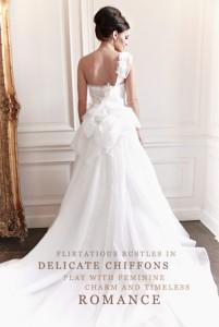 New bridal designer, Claire Mischevani