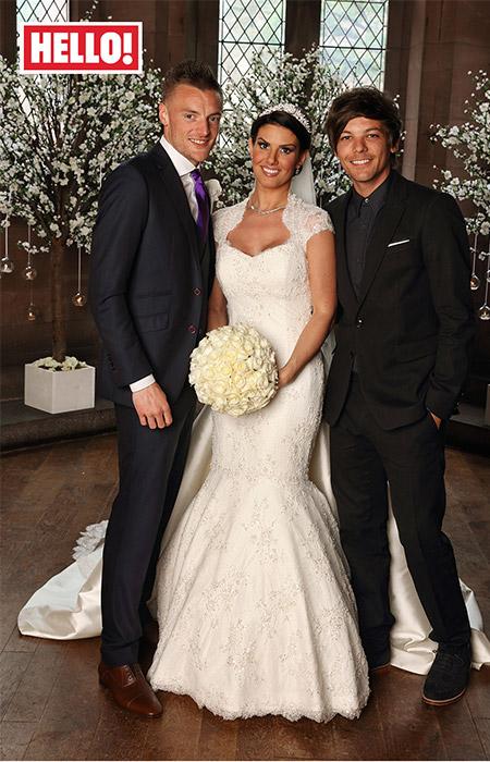 Lucky girl!  A custom-made Caroline Castigliano gown for Jamie Vardy's bride