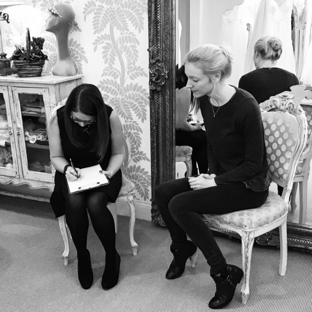 Suzanne Neville Designer Day at Carina Baverstock Couture