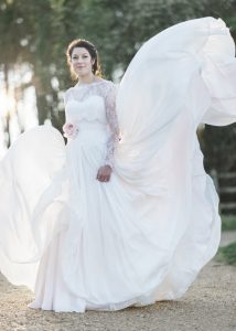 Our bride Rebecca in Naomi Neoh…