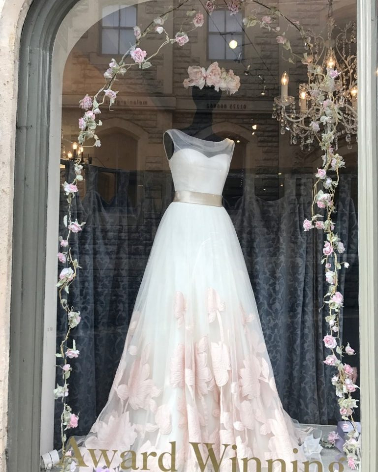 Our pretty floral Easter windows…