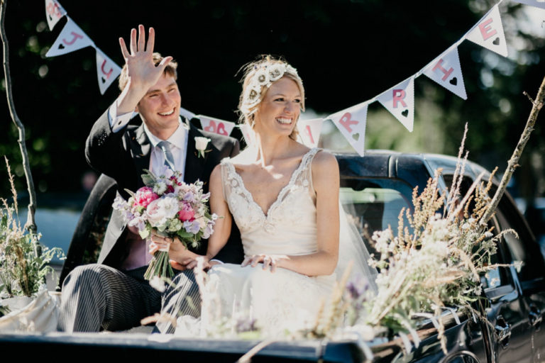 Izzy in Clinton Lotter for her marquee wedding…