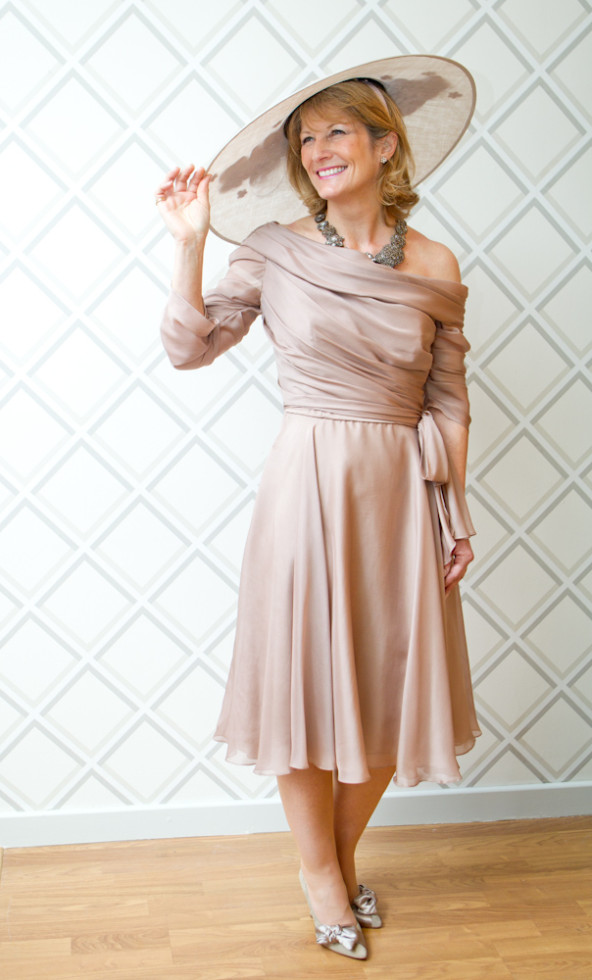 David Fielden – Blush Silk Dress