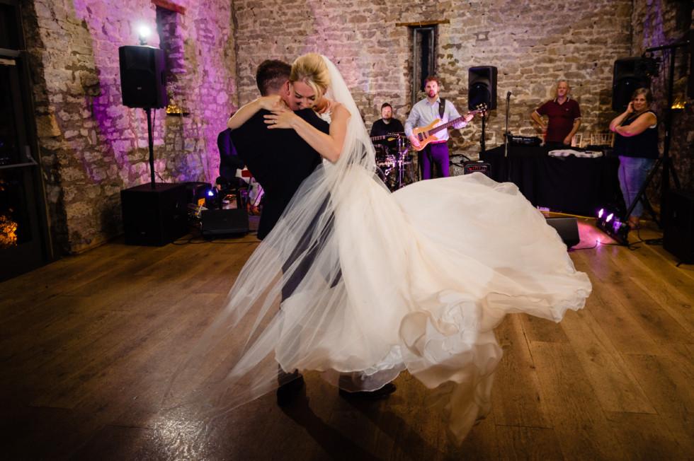 Real bride Natalie rocking her Caroline Castigliano 'Tertia' wedding dress