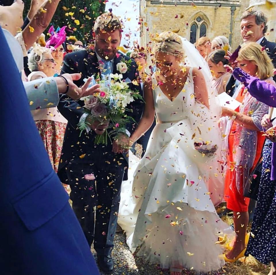 Lyla by Caroline Castigliano confetti shot!