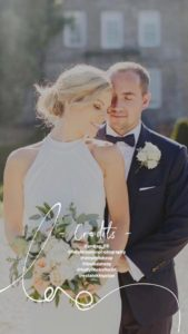 Sarah looking incredible in her Belle wedding dress by Suzanne Neville