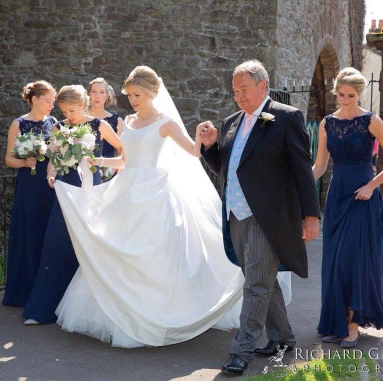 Suzanne Neville Monet wedding dress on a beautiful CBC bride!