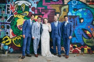 Real bride Alexandra looking fabulous in her Temperley London Obelia wedding dress!