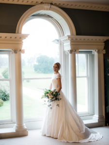 Beautiful bride Helen in Suzanne Neville 'Ivy' for her gorgeous Cornish military wedding.