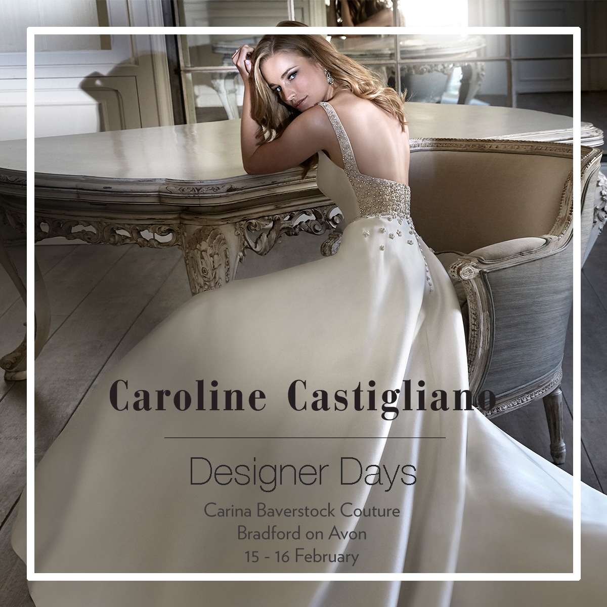 Caroline Castigliano Designer Event 15th and 16th February 2019