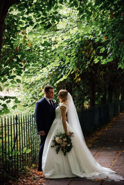 Beautiful bride Jessica in Suzanne Neville 'Monet' for a classic, timeless wedding day.