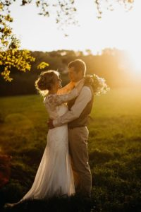 Country wedding perfection – beautiful Annie in David Fielden