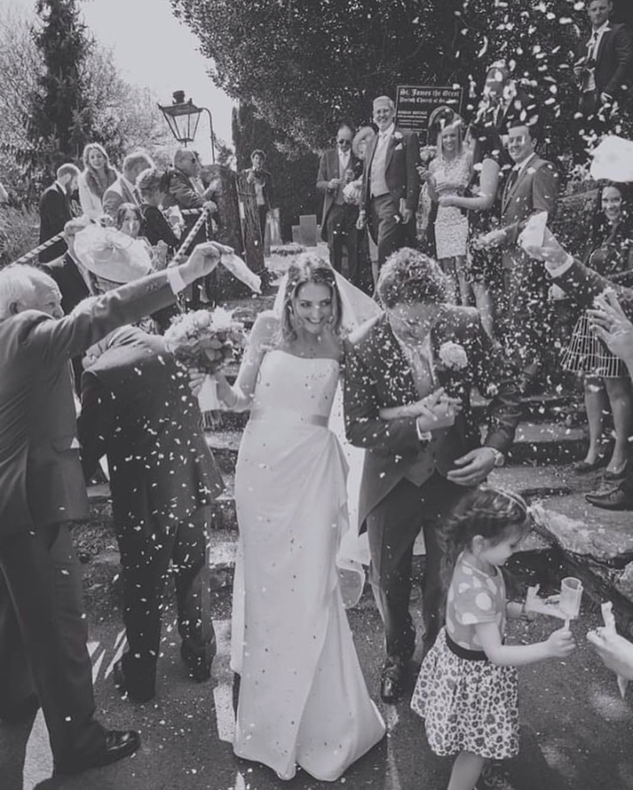 Real bride Laura looking sensational in her strapless wedding dress 'Fitzrovia' by Suzanne Neville.