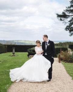 Beautiful CBC bride Alex wore a bespoke Suzanne Neville gown.