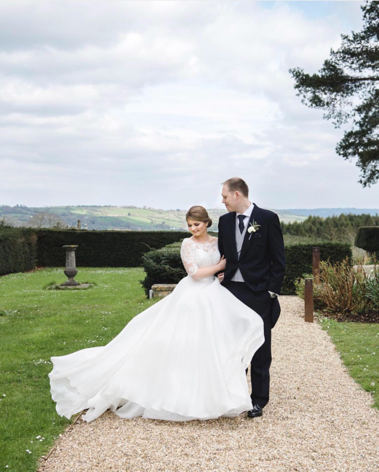 Beautiful CBC bride Alex wore a bespoke Suzanne Neville gown.