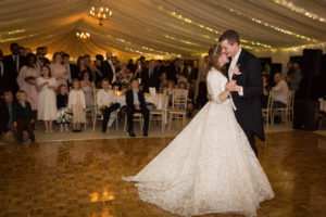 Beautiful Beth wore a Suzanne Neville gown for her Church wedding.