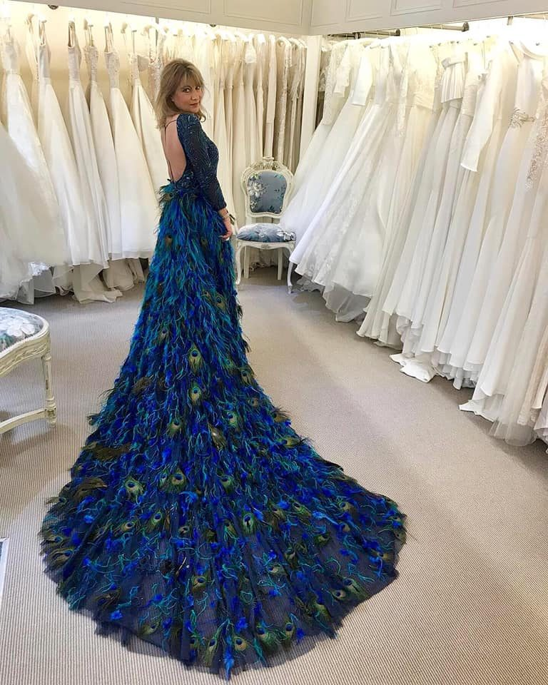 WOW! The Peacock gown and overskirt by Eliza Jane Howell has arrived!
