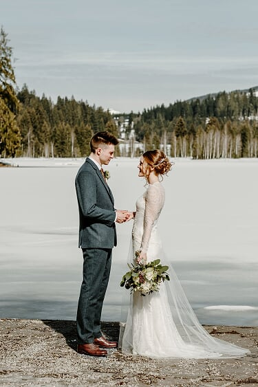 A gorgeous Austrian winter wedding in the snow.