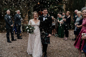 CBC bride Rosie wearing vintage inspired Claire Pettibone for her wedding at Maunsel House