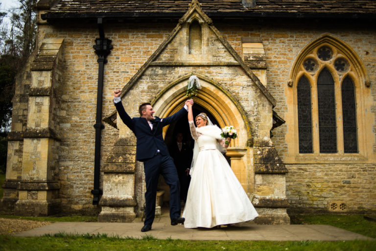 CBC bride Emma wore a fabulous Sassi Holford gown for her winter wedding.