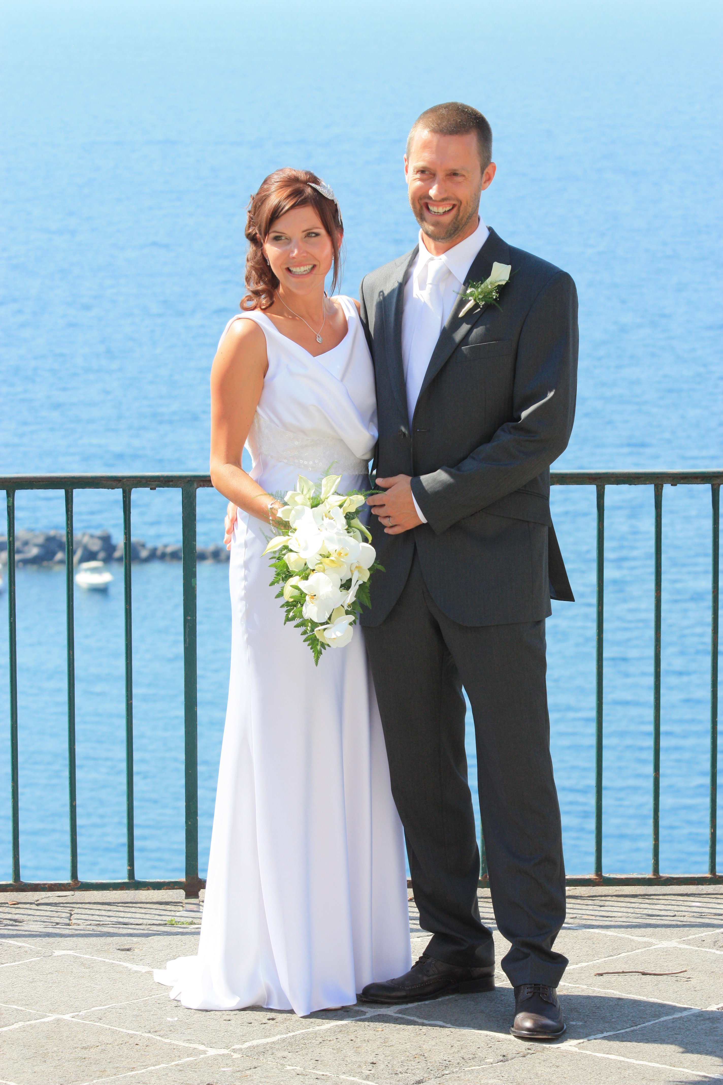 Beautiful relaxed Italian wedding with a stunning bride in David Fielden.