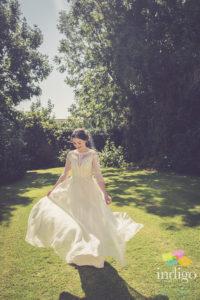 Real bride Catherine looks beautiful in Temperley for her boho seaside wedding.