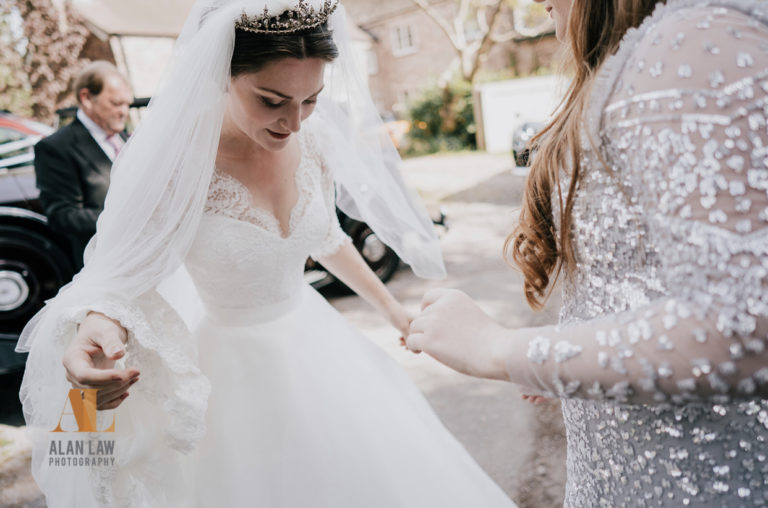 Beautiful Welsh bride meets the animal kingdom for a traditional wedding with a twist.