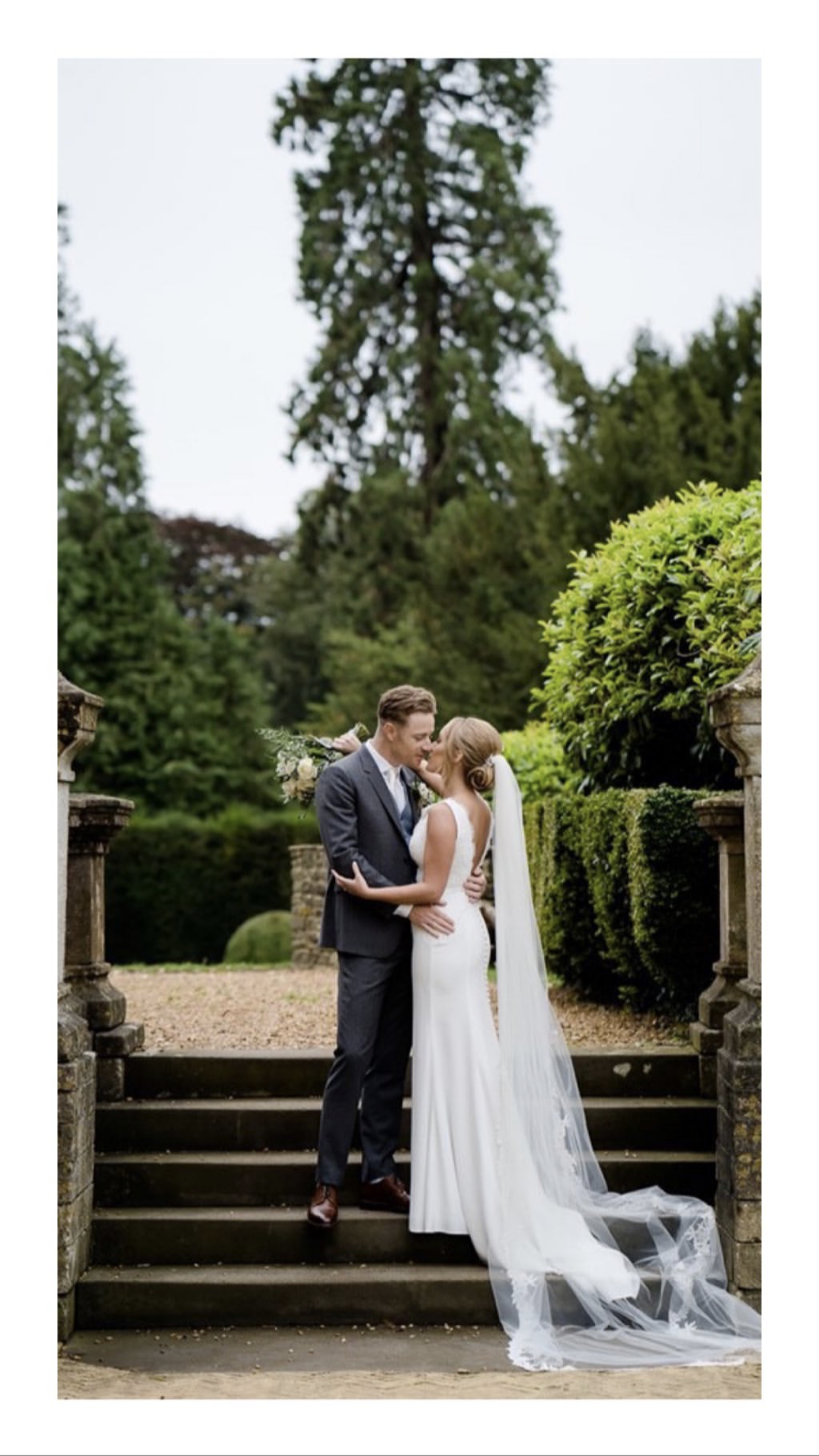 Picuresque manor house wedding with show-stopping bride in bespoke Suzanne Neville.