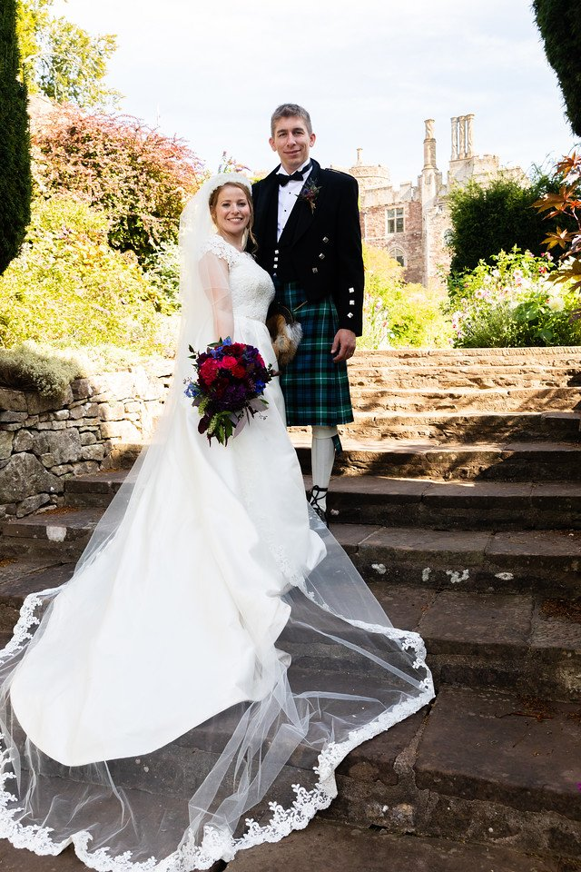 Fabulous traditional castle wedding with Caroline Castigliano En Fleur wedding dress